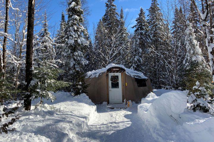 boreale chalets lanaudiere exterieur hiver jour